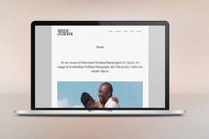 Website design for Bride and Groom Photography